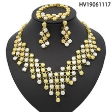 Yulaili Unique Ladies Vintage Dubai Jewelry Sets Round Shape Necklace Copper Alloy Jewelry India Wedding Jewelry Accessories недорого