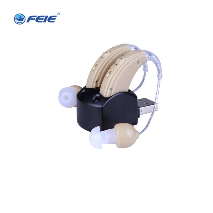 Free shipping DOUBLE headphones hearing deaf S-109S audifonos para sordos recargables guangzhou feie deaf rechargeable hearing aids mini behind the ear hearing aid s 109s free shipping