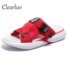 цена на Slippers female 2019 new wild fashion word muffin sandals non-slip thick bottom beach wear sports slippers open toe shoes C1269