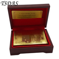 24K 999 9 Gold Plated Playing Card Euro 500 In Red Box Poker Deck 99 9