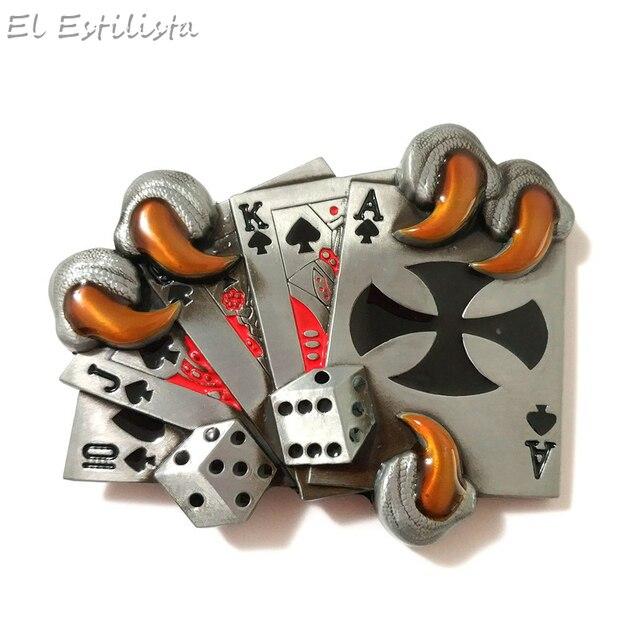 incroyable sélection  le prix reste stable € 6.18 28% de réduction|Hommes De Mode En Métal cartes de poker Ceinture  Boucle bricolage Aigle Griffe Jeu Boucles Chanceux Ceinture Tête Jeans ...