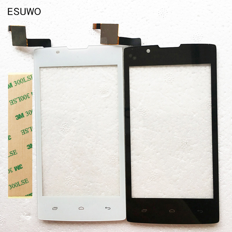 Esuwo 4.0 спереди Стекло touch Экран для Fly fs401 Stratus 1 FS 401 Сенсорный экран Digiziter touch Панель черно-белый цвет ...