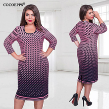 fashionable women dresses big size NEW 2017 plus size women clothing 6xl winter dress casual o-neck Plaid office bodycon Dress