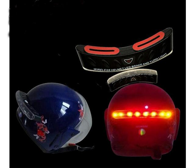 upgrade 8 LEDs Wireless Motorcycles Helmet Brake Turn Signal Light accessory Motorcross Warning Flasher Lamp Holder replacement