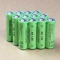 12 pçs/lote aa bateria recarregável 14500 bateria recarregável de 1.5 v aa alcalinas baterias para diodo emissor de luz de brinquedo mp3 frete grátis