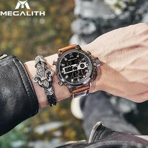 Image 5 - Megalith Mode Mannen Led Quartz Horloge Mannen Militaire Waterdicht Horloge Sport Multifunctionele Horloge Mannen Klok Horloges Mannen