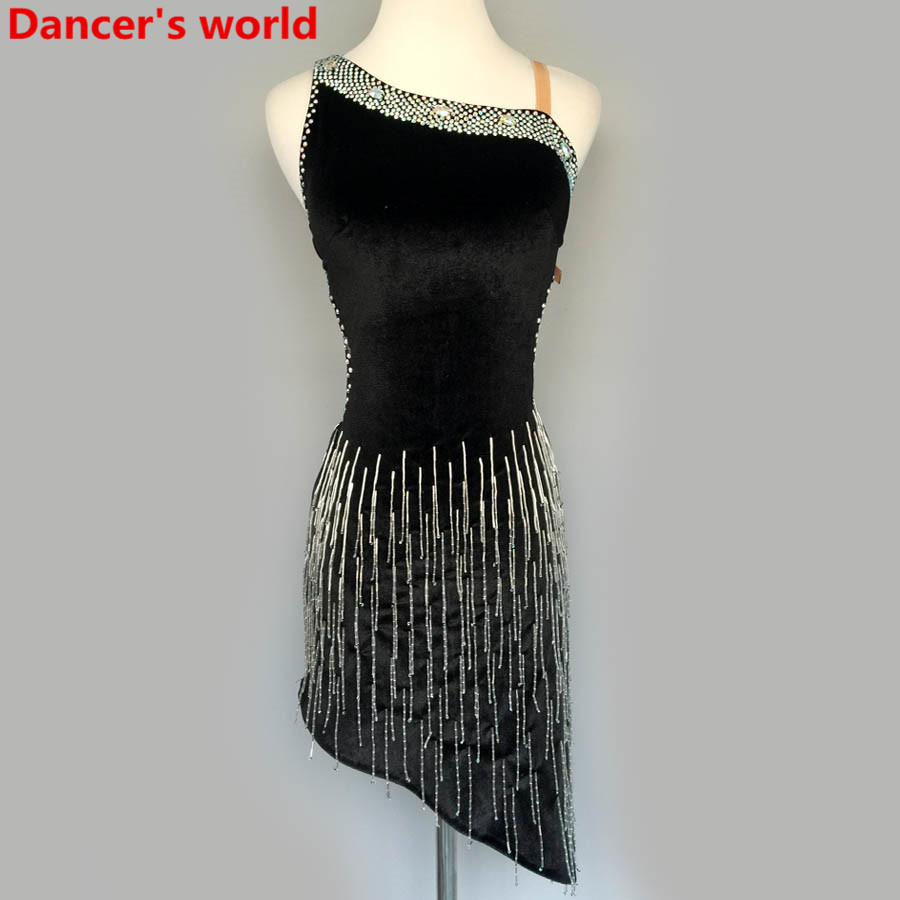 2017 Latin Dance Dress Women Harness Back Opening Salsa Samba Tango Ballroom Competition Costume Lady Practise/Competition Dance