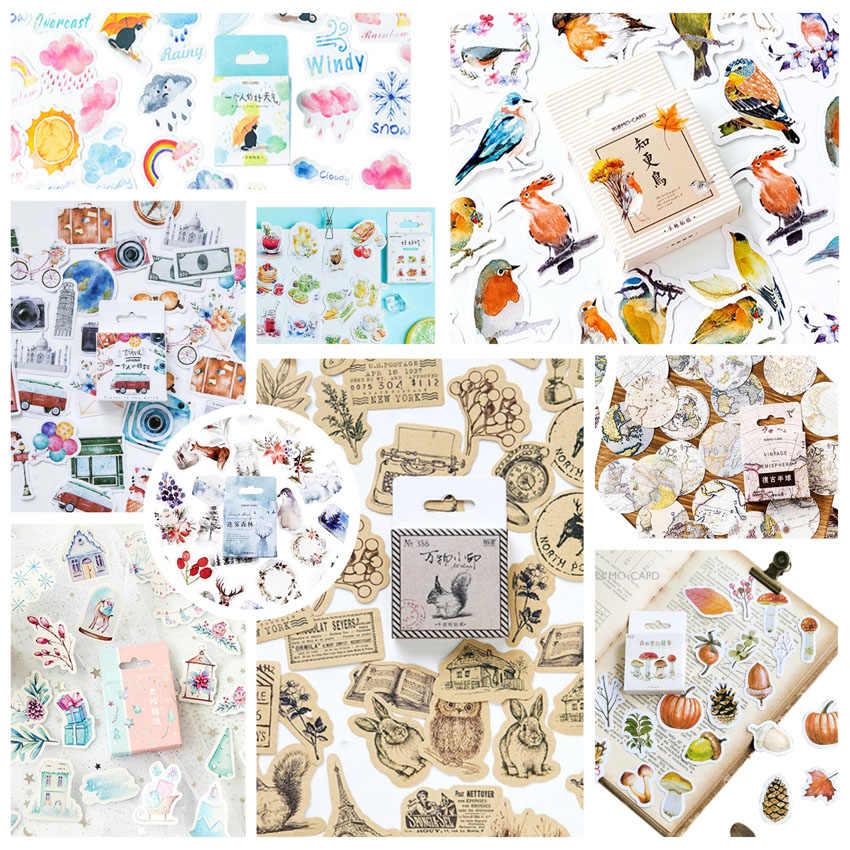 46 шт./упак. милые Стикеры с белкой бумага Kawaii птица путешествия наклейки украшения Дневник для скрапбукинга, школьные принадлежности