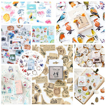 46pcs/pack Cute Squirrel Stickers Paper Kawaii Bird Travelling Decoration Diary Scrapbooking School Supplies