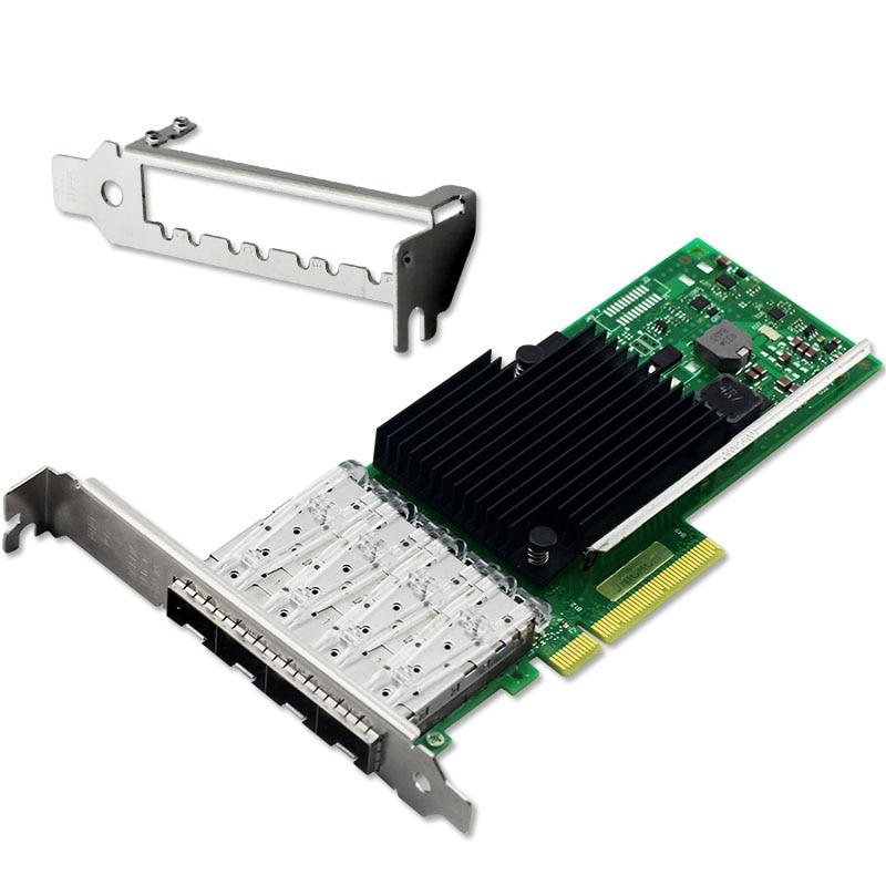 все цены на  PCI-Express X4 Quad Port 10GbE Fiber Ethernet Server Card Chipset for X710  онлайн