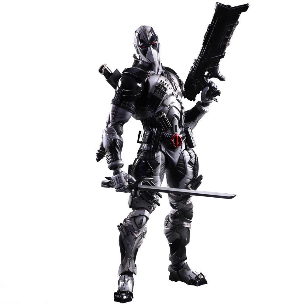 Gioca Arts Kai Deadpool Figure X Men X-MEN Deadpool Grigio Wade Winston Art KAI Action PVC Figure 26 cm Bambola giocattolo декор lord vanity quinta mirabilia grigio 20x56