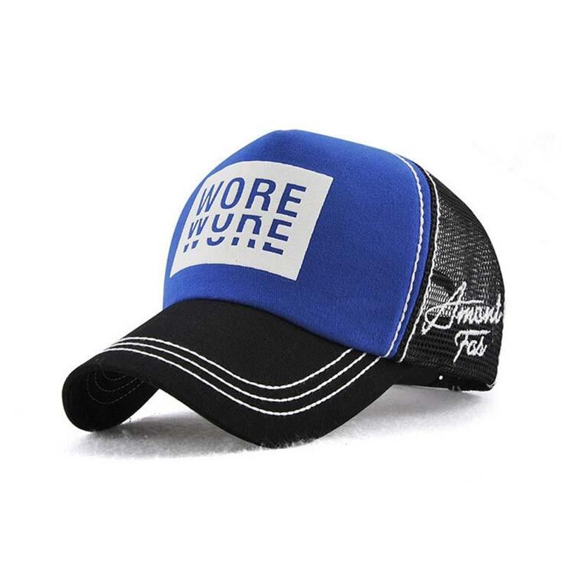 New Fashion Black Baseball Cap Mesh Andas Tryck Patchwork Mössor - Kläder tillbehör - Foto 3
