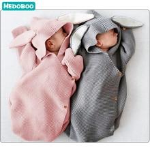 цены на Medoboo Rabbit Baby Sleeping Bag Sleep Sack for Stroller Newborn Infant Knitted Swaddle Baby Sleepwear Sleeper Wrap For Toddler  в интернет-магазинах