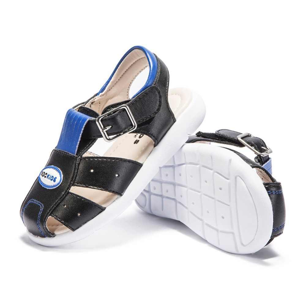 Abckids 1-4 T ฤดูร้อนเด็กรองเท้าชายหาดชายธรรมดารองเท้าแตะแบบสบายๆรองเท้าแตะลื่นทนทานรองเท้าหนัง