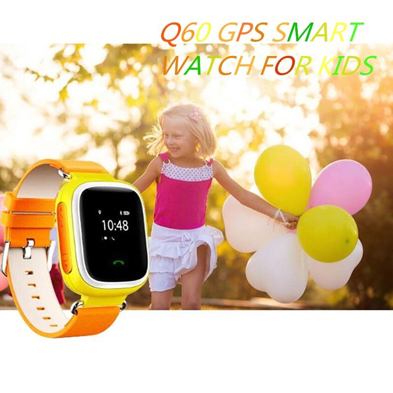 Smart Watch Q60 lastele SOS Call Location Finder Locator Device Tracker Lapsed Anti-Lost Wristwatch Parim kingitus lastele