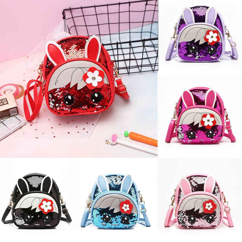 2019 брендовая модная Милая школьная сумка для девочек и мальчиков, рюкзак с блестками и милым Кроликом, 13 цветов