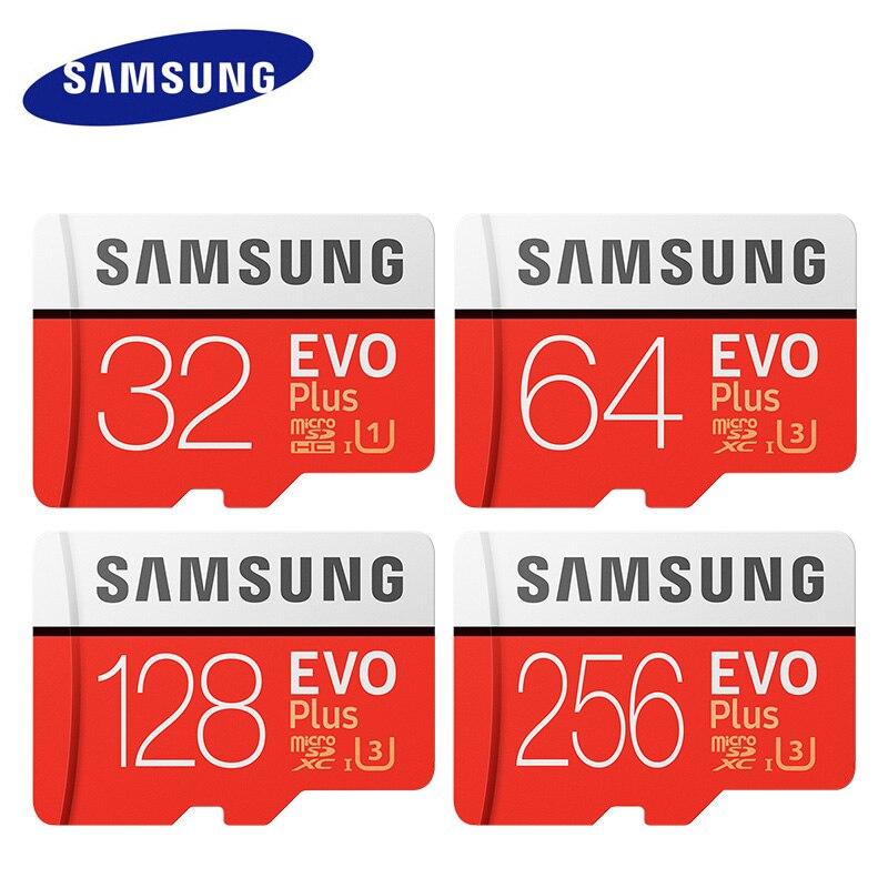 Original SAMSUNG Micro sd-karte 32 GB 64 GB Class 10 Speicherkarte EVO + EVO Plus microSD 128 GB 256 GB Tf-karte SDXC cartao de memoria