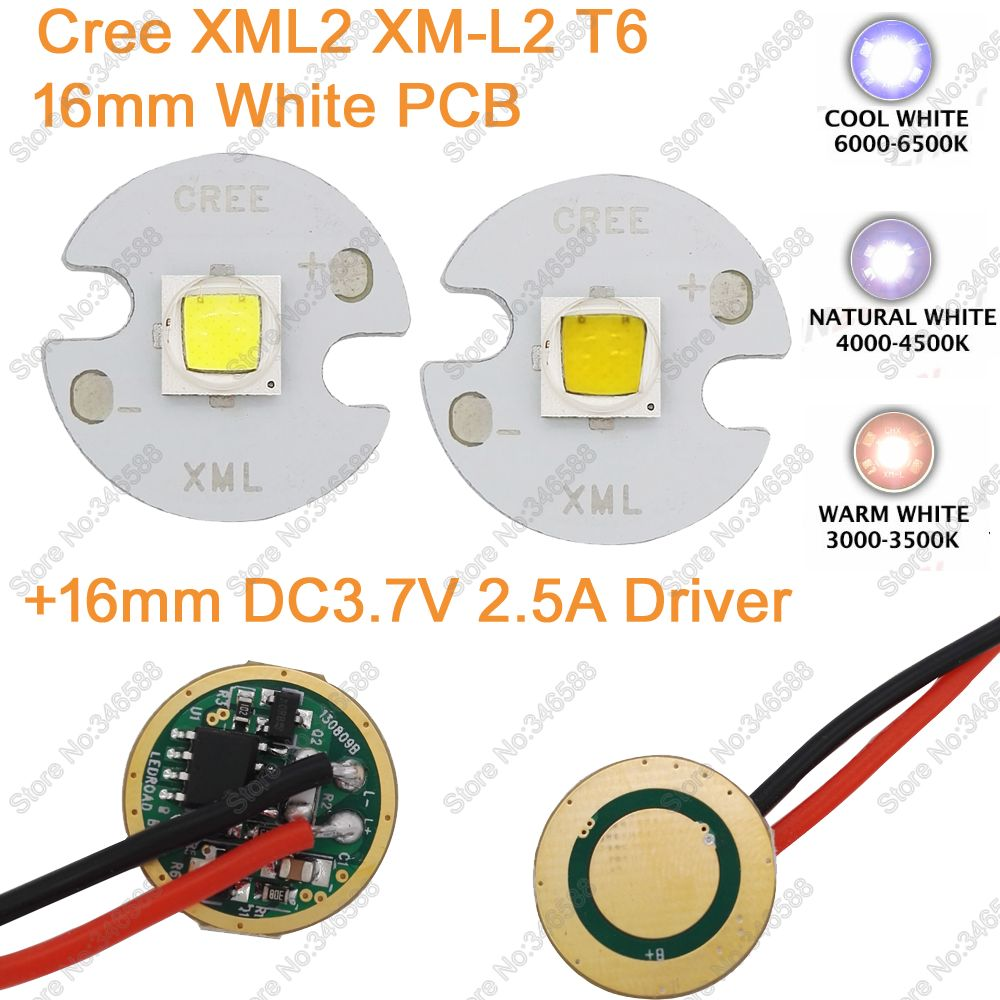 Home original cree xm l2 xml2 led emitter lamp light cold white - Cree Xml2 Xm L2 T6 Cold White Neutral White Warm White 10w High Power Led