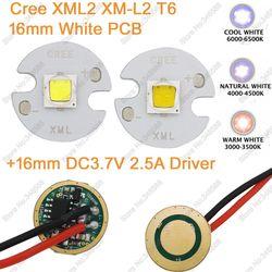 Cree xml2 xm l2 t6 cold white neutral white warm white 10w high power led emitter.jpg 250x250
