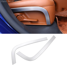 For Maserati Levante 2016 Car-Styling ABS Chrome Car Rear Row Seat Side Decoration Strips Trim Auto Accessories set of 2pcs carbon fiber style abs plastic car rear row back seat net bag frame trim fit for maserati ghibli for levante car accessories