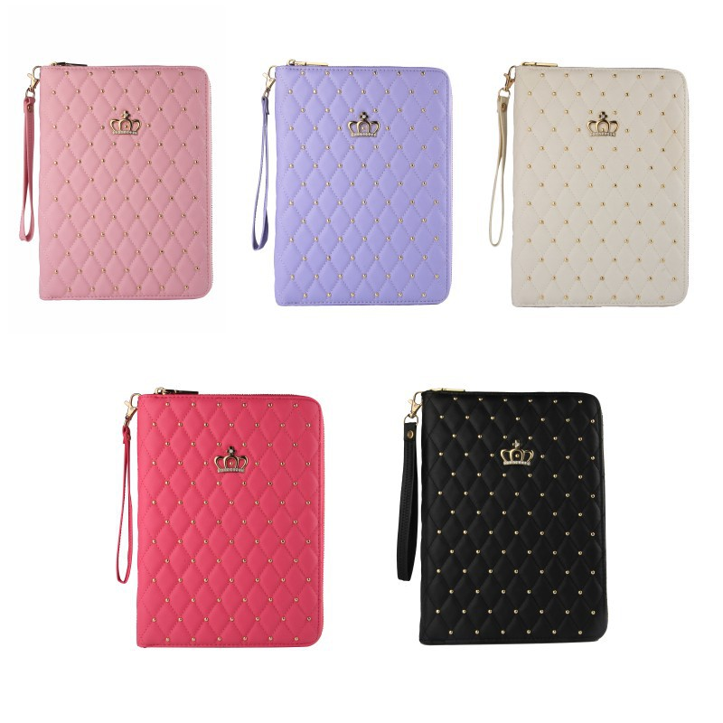 Crown Zipper Bag for Apple Ipad2 3 4 Case Cover with Auto Smart Sleep Wake Up Function for Ipad 9.7Inch Free Rotation Stand Case for ipad air 2 case fashion cover for ipad 6 luxury leather case for apple ipad 2 3 4 tablet with stand function auto sleep up