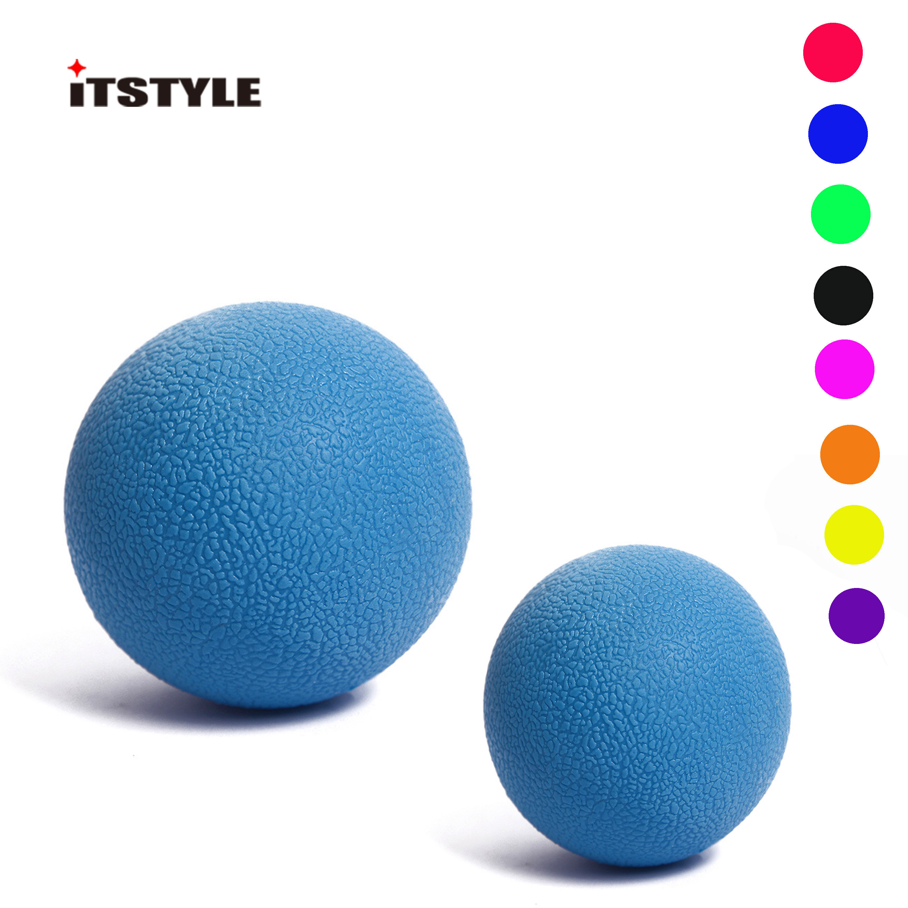 ITSTYLE Lacrosse Ball Sports Muscle Relax Fatigue Roller Gym Fitness Massage Therapy Trigger Point Body Yoga Exercise ball