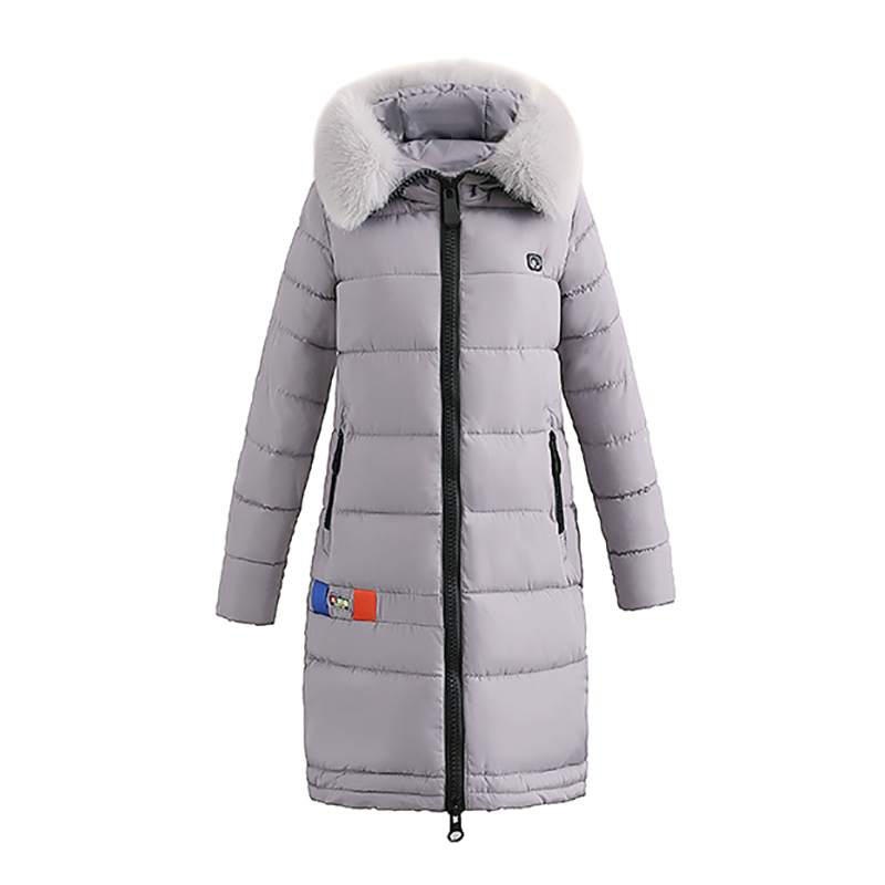 Hot sale Female Warm Winter Jacket New Fashion Women Hooded Fur Collar Cotton Coat Solid Color Slim Large size Female Coat 5L23 hot sale cotton solid men tank top