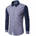 Camisa Masculina Summer Men Shirt 2016 Fashion Brand Men Breathable Long-Sleeved Shirt Plaid Dress Shirt Plus Size Shirt Homme