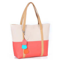 Sweet Blend Candy Color New Fashion Women Leather Handbags Shoulder Bag Lady Casual Totes Sac A Main Marques Bolsos Mujer 803bag