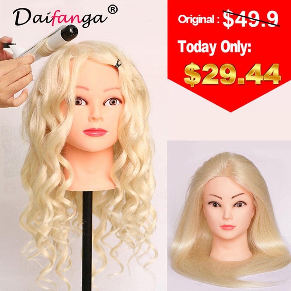 Оптовая продажа 80% Человеческие волосы манекен головы 22 Блондинка отличное качество натуральных волос парикмахерских Куклы головка для Кр...