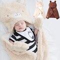 Cobertor Do Bebê recém-nascido Parisarc Manto Manteau Manto Estilo Animais Primavera Outono Da Menina do Menino Do Bebê Recebendo os Cobertores de Lã de Cordeiro