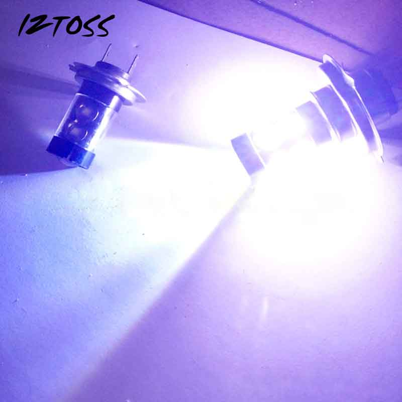 2PCS 50W 10SMD Car-styling Led High Power Fog Lamp H4 Black Aluminum Fog Lamp Headlamps Bulds