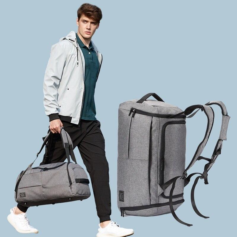 Bolsa de Fitness para hombre, bolsa de equipaje para esquí, bolsa de viaje de corta distancia, mochilas deportivas, bolso de mano de gran capacidad, bolsa deportiva, bolsa de entrenamiento de gimnasia masculina