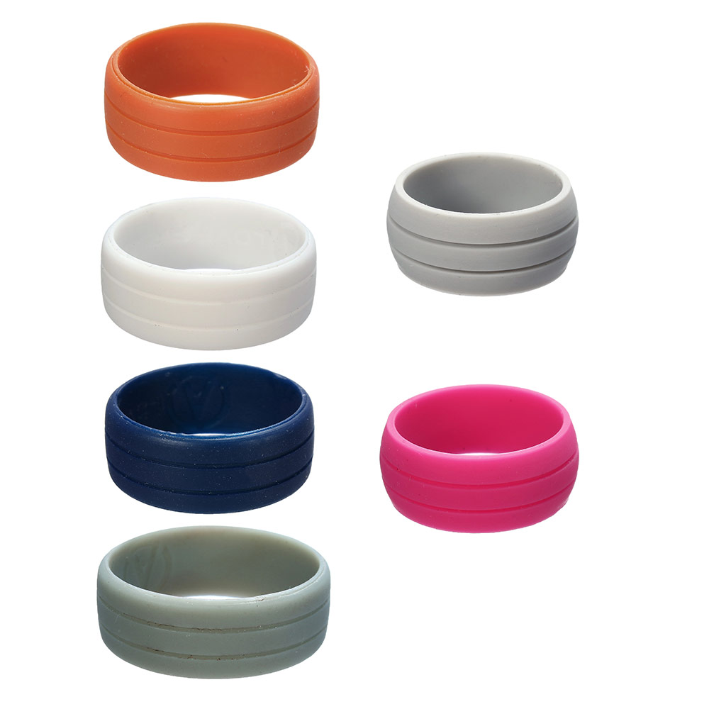 Size 712 Silicone Rubber Wedding Engagement Ring 8mm Band For Men Women  Couple Solid