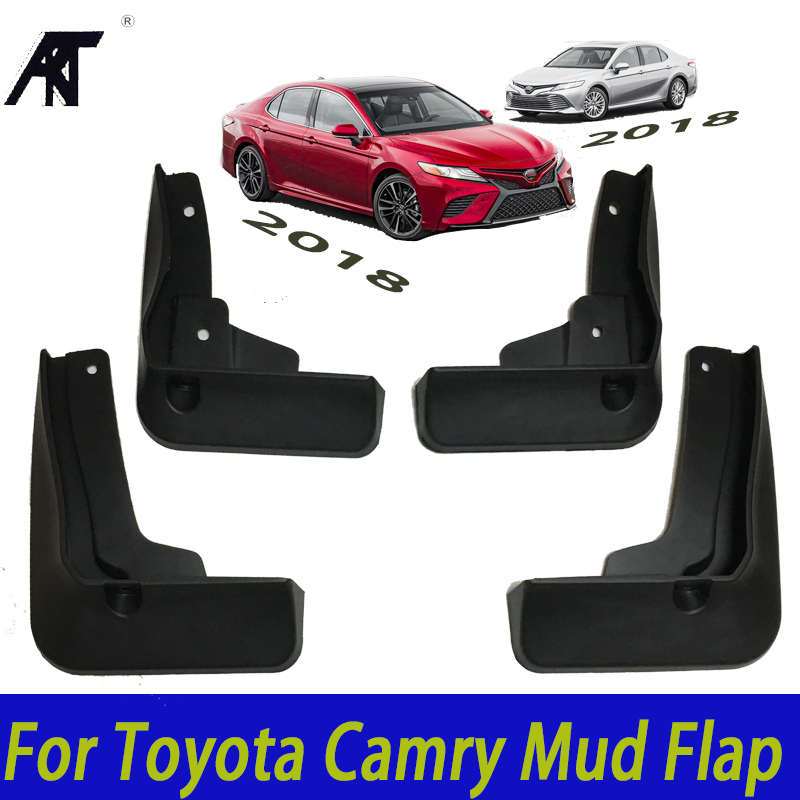 Car Mud Flaps For Toyota Camry 2018 L LE XLE PU060-03180-TP Mudflaps Splash Guards Mud Flap Mudguards 2017 OE Styled Set Molded for volkswagen vw beetle 2012 2017 front rear molded car mud flaps mudflaps splash guards mud flap mudguards fender