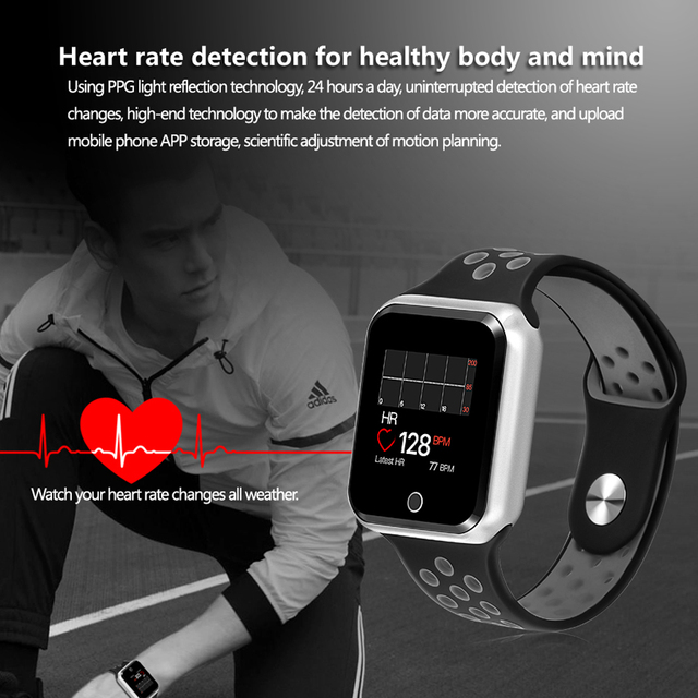 S226 Sports smart watches IP67 Waterproof Smart Bracelet 15 days long standby  Heart Rate Monitor Blood Pressure Pedometer watch 4
