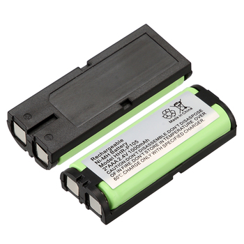 1~10pcs 2.4V 1000mAh Rechargeable Ni-MH Telephone Battery for Panasonic HHR-P105 HHRP105A KX242 image