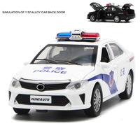 For Toyota Camry Political Car Model Alloy Music Light Pull Back Function Open Door Design Toy Car Diecast Auto Mobile Wheels