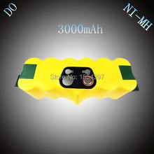 14.4V NI-MH 3000mAh Rechargeable Battery Replacement for iRobot Roomba 500 610 700 80501 510 530 540 550 560 780 770 760 870 880(China)