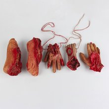 Broken Hand Foot Finger with Rope Blood Horror Halloween Decoration Severed Bloody Limbs Hand Novelty Dead Broken Hand Gadgets(China)
