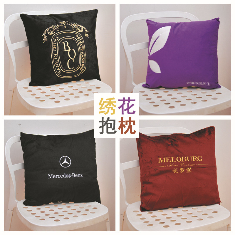 Image 3 - Home textile simple printing pillow, core cotton, linen, plush, creative cushion, gift pillow, logo pattern customization-in Storage Bags from Home & Garden