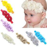 Bebê Recém-nascido Da Criança Elastic Headband Chiffon Flor Headbands Fotografia Crianças Lovely Bow Headband