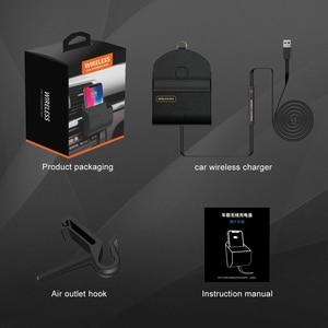 Image 5 - Ascromy 10W Tề Xe Sạc Không Dây Cho Iphone XS Max XR X 8 Plus Lỗ Thông Khí Điện Thoại Da hộp bảo quản Túi Tề Sạc Nhanh