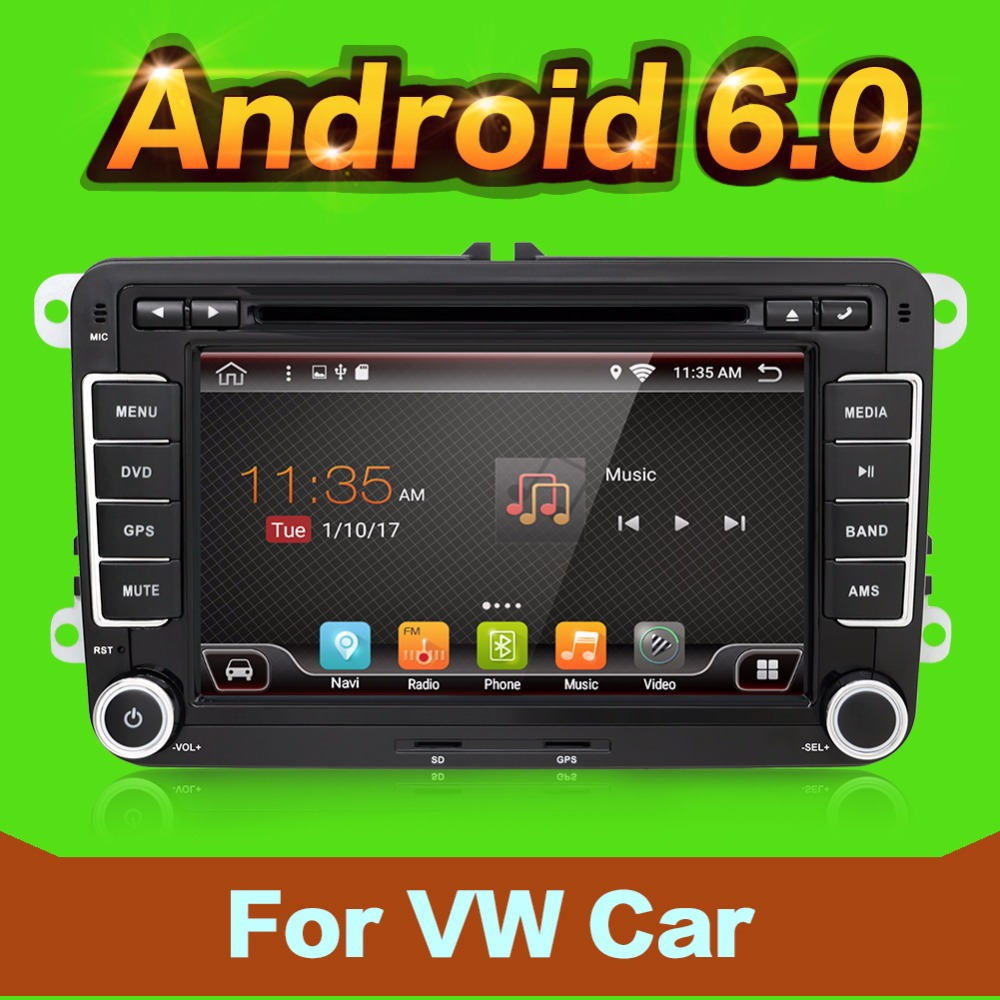 2 Din Android 6 0 VW Car Audio DVD Player GPS For GOLF 6 Polo Bora