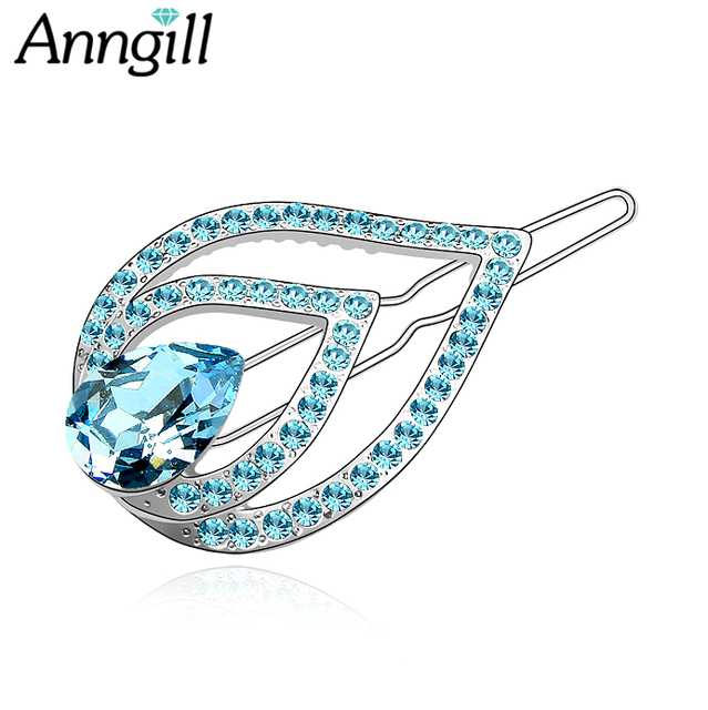 c76ba36e4 Women's Fashion Hair Accessorie Crystals from Swarovski Hairpin Hair Clips  Delicate Hair Pin Decorations Jewelry Accessories