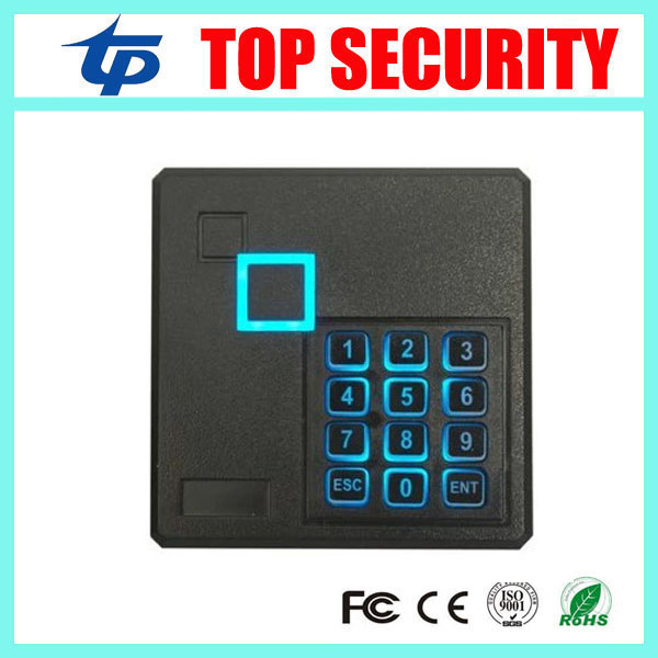 Free shipping good quality IP65 waterproof smart card reader weigand26 EM card 125KHZ RFID card access control reader keypad 125khz rfid card smart card reader for access control system weigand26 and weigand34 ip65 waterrproof out door use card reader
