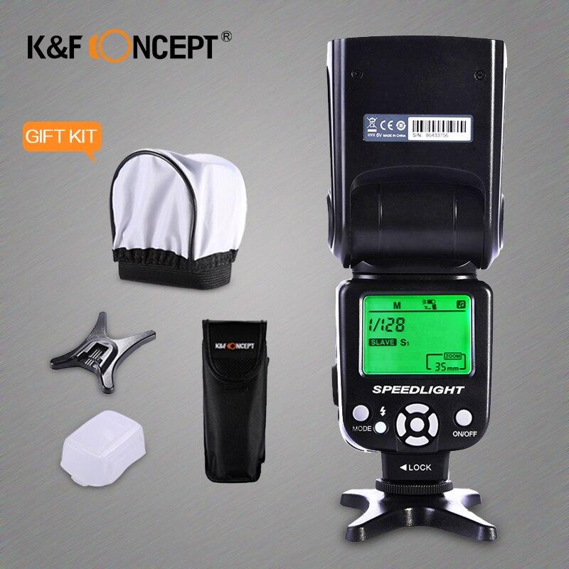 K&F CONCEPTO KF590EX-C Flash Speedlite inalámbrico e-TTL GN56 - Cámara y foto