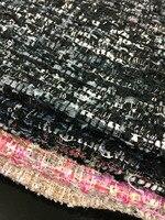 フリー船ウールツイード生地暖かい色織り込まニードリング生地7色選択のための価格のための1ヤード59
