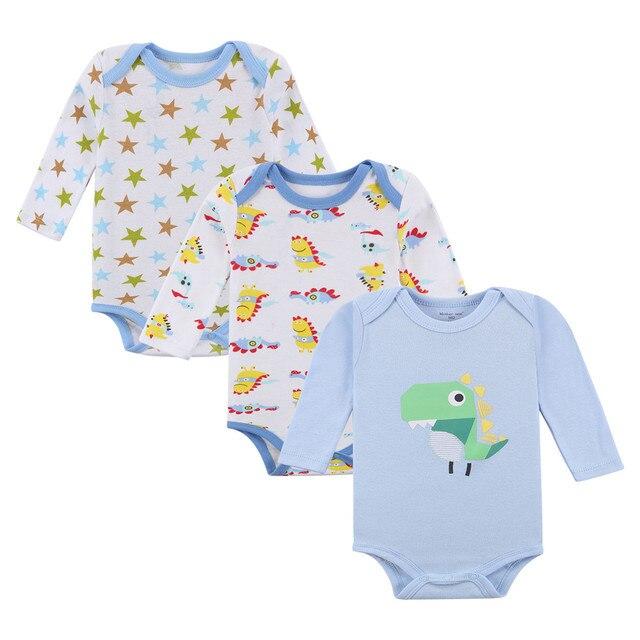 842cb6b74 3 Pieces lot Cartoon Style Baby Girl Boy Autumn Clothes New Born ...