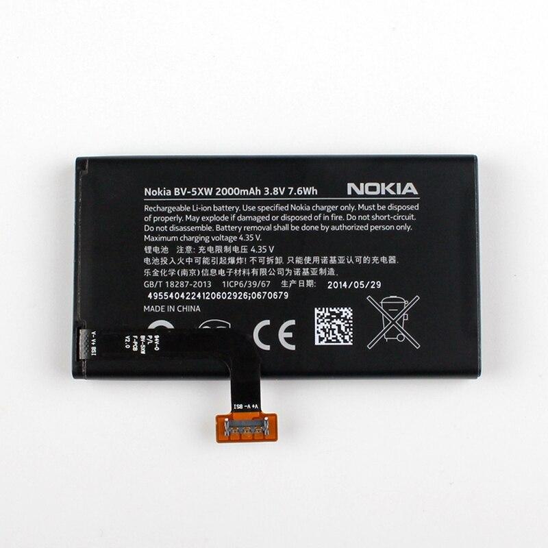New Original Nokia BV-5XW téléphone batterie pour Nokia Lumia 1020 EOS BV5XW 2000 mAh